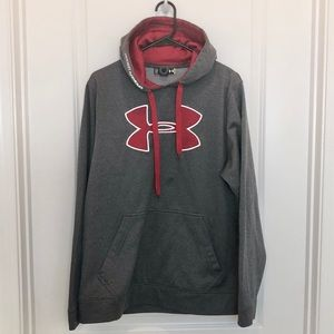 Under Armour Gray Red Hoodie Size L
